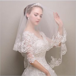 Wholesale Discounted Bridal - Discount Lace Wedding Veil Bridal Veils 1.5 Meters Wedding Veils Veu De Noiva Bridal Accessories 2016