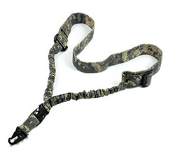 Wholesale Gun Slings - High Strength One Point Adjustable Sling Single Point Rifle Gun Bungee Cord ACU color