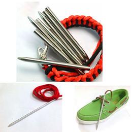 1Pcs Punta de hilo de rosca Stiching Needle Fid para tejer Tejer Pracord Pulsera de cinturón de 3 pulgadas de acero Paracord Needle With Screw desde fabricantes