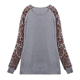 Wholesale Long Sleeve Leopard Lace Blouse - w1025 Fashion Women Sexy Leopard Top Chiffon Long Sleeve Shirt Lady Blouse Tops