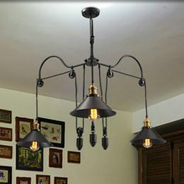 Loft tarzı vintage endüstriyel aydınlatma Kasnak Kolye Işıkları 3 lambalar Ada Fuaye kolye Yemek Kolye Çalışma odası Metal nereden