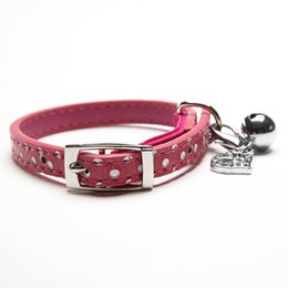 Wholesale Bling Safety Cat Collar - New Polka Dots Bling Collar for Cats Safety Collars gatos and Small Dogs with Small Heart Pendant Tags