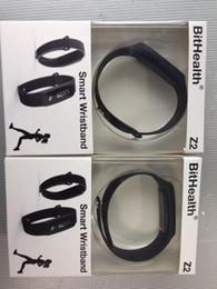 Bluetooth ble online-Z2 BitHealth intelligente Armbänder Bluetooth 4.0 BLE TPU Handgelenk-Band-intelligente Sport-Armband-Uhr-Daten-Synchronisierung für androides IOS Iphone Freies Verschiffen