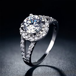 Wholesale Ring Woman 925 Mix - sterling 925 silver Fine ring CZ diamond Romantic bague Wedding jewelry Engagement bijoux for women free shipping MSR022