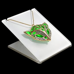 Wholesale Acrylic Necklace Organizer - High Quality Acrylic Pendant Necklace Jewelry Displays Stand Holder Storage Organizer Rack White