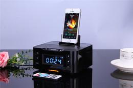 Wholesale Dock Radio - HOME Snooze Clock Docking station iPod iPhone 6 plus 6s 6 5 5S 5C Phone bluetooth speaker