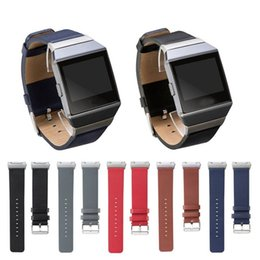 Wholesale Ionic Blue - Genuine Leather Replacement band Watch Strap Fashion Watchband For Fitbit Ionic Smart Watch wristband For Fitbit Ionic wriststrap