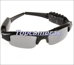 Wholesale Mp3 8gb Sunglasses - Free shipping 1280x720p HD Hidden spy Camera Sunglasses with Bluetooth & MP3 Player Popular Glasses Video Recorder 8GB 16GB 32GB Optional