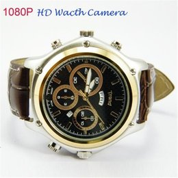 Wholesale Spy Watches 4gb - FULL HD 1080P SPY HIDDEN WATCH VIDEO CAMERA 5MP LEATHER STRAP with 4GB Waterproof