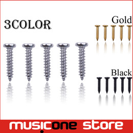 Wholesale Black Machine Screws - 200pcs Wholesale Acoustic Electric Guitar Tuning Pegs Screws Bass Guitar Machine Heads Mounting screws Chrome Black Gold for Choose MU1292