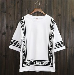 Wholesale T Shirt Bandana - KTZ Half Sleeve Baseball Hip Hop T-shirt Religion Geometric Bandana Shirt Vintage Rock Tee Shirts Loose Plus Size Streetwear XXL