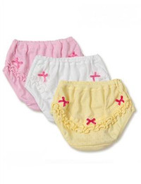Wholesale Cute Baby Girl Panties - Baby Panties Girls Summer Cotton Soft Breathable Sweet Cute Baby Underwear Cut out Embroidery Lace Bow Cartoon Personal Ruffles Basic Briefs