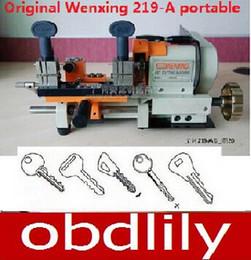 Wholesale Wenxing Cutting Machine - 100% Original Wenxing 219-A portable key cutting machine Duplicated key machine Free DHL shipping