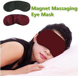 Wholesale Eyes Massage - New Professional Magnet Tourmaline Massaging Eye Mask Eyepatch Improve Sleeping Eliminate Dark Circles Alleviate Eye Fatigue Health 10pcs