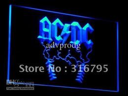 Wholesale N Dc - c004-b ACDC AC DC Rock n Roll Bar Neon Light Signs
