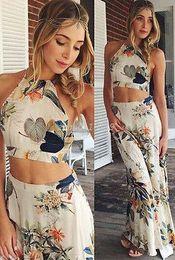 Wholesale Halterneck Chiffon Dresses - 2016 NEW Sexy Women Summer Boho Halterneck Long Maxi Evening Party Dress Beach Dress