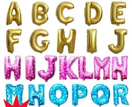Wholesale Letter Z Balloons - 16inch Aluminum Balloons Gold Silver Color Alphabet Letters A-Z and Arabic Number 0-9 Foil Balloon Christmas Birthday Party Decoration