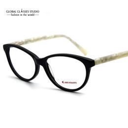 36eb3a08d2 Classic Design Lady s Cat-eye Acetate Optical Glasses Eyewear Spectacle  Frame Black Ivory With Spring Hinge occhiali 51BG24012