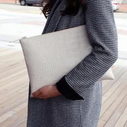 Wholesale Evening Clutch Bag Large - 2017 New Fashion Crocodile Grain Women Envelope Clutch Bag Ladies Evening Party Large Clutches Handbag Alligator purses bolsas