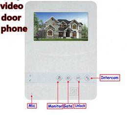 "Wholesale Wireless Color Cmos Camera - 4.3"" Color TFT LCD video door phone with CMOS 700 TVL rain-proof outdoor camera for villa house"