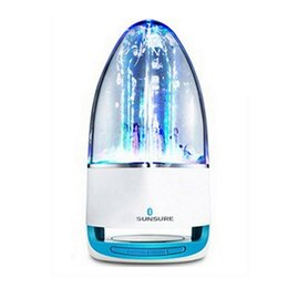 Wholesale Led Dancing Water Fountain Speakers - Fashion Subwoofer LED Music Fountain Water Dance Bluetooth Speaker With TF Card Slot Stereo Bass and Computer MP3 Audio Input.