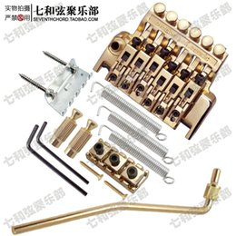 Wholesale Gold Tremolo Bridge - Gold Electric Guitar Floyd Rose Tremolo Bridge - Double Locking Assembly Systyem Tremolo Bridge for Electric Guitar Replacement Parts BL-3-G