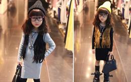 Canada Enfants Fille Glands WaistCoat Couleur Unie Sans Manches Outwear Gilet Manteau New Mode Casual Enfant Vêtements supplier vest waistcoat girls Offre