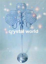 Wholesale Floor Standing Candle Stands - sliver color wedding walkway , tall wedding floor candelabra,