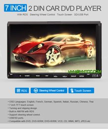 Wholesale Double Din Dvd For Car - 7 inch 2 Din Car DVD Player for Universal Car with Microphone GPS Navi Radio 3G TV Ipod Touch Screen Double 2 Din Car DVD Player