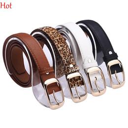 Wholesale Lady Jeans Belt - Fashion Womens Leather Waistbelt Metal Clip Needle Belts Pants Jeans Shorts Ladies Strap Leopard White Black Fashion Accessories SV012754
