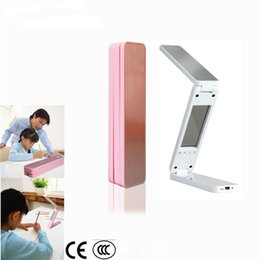 Wholesale Ion Clock - 2016 New Arrival Portable Mini Folding Table Lamp Touch Control Book Lamp Alarm Clock with Calendar and Temperature