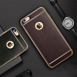Wholesale Capa Mobile - Newest Luxury Crystal Plating TPU Leather Pattern Soft Mobile Phone Cases For Apple iPhone 6 6S 6Plus 7 8 7Plus 8Plus Cover Case Capa