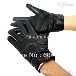 Wholesale Wholesale Women S Fashion Gloves - Winter Blending Sheepskin Leather Gloves Fur Cape Glove Men Women Bike MotorCycling
