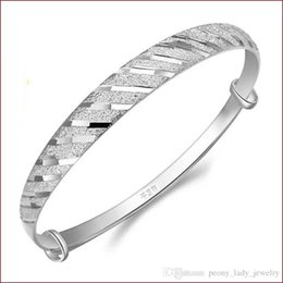 Wholesale Vintage Chinese Bracelet - 925 sterling silver items jewelry charm bracelets bangle chinese vintage strip line bright free shipping