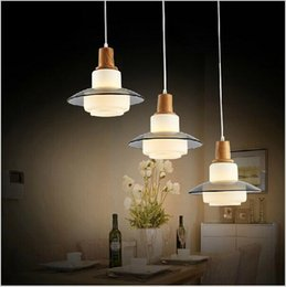 three head pendant light Coupons - 2016 New design Modern Beige Glass three head pendant light liustra for dinning room bedroom restaurant lighting liustry lamps