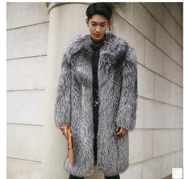 Wholesale Fox Clothing Men - Wholesale- Mens Long Imitation Fox Fur Jackets Casual Winter Autumn Man-Made Fur Overcoats Plus Size Male Faux Fur Jackets Clothes Cj70