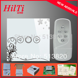 Wholesale Touch Dimmer China - China Hilti Crystal Remote Touch Dimmer Switch with blue LED backlight,AC110-240V,1Gang Glass Tempered Panel Dimmer Light Switch