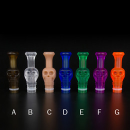 Wholesale Skull Plastic Drip Tip - Colorful Plastic 510 Drip Tip Skull Mouthpiece Transparent Colorful Drip Tip Atomizer dripper Tip for E Cig Cigarettes RDA