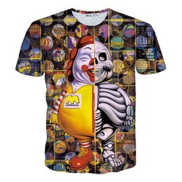 Wholesale Funny Anime T Shirts - tshirts harajuku men women 3d T shirt print SUPERSIZED clown T-shirt Casual funny skull t shirt Anime graphics tee shirt
