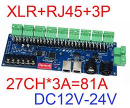 2019 dmx 512 decoder rgb 27 CH Easy decodificatore dmx512, decodificatore DMX 512 27CH, 9 controller RGB uscita gruppo, ogni canale max 3A