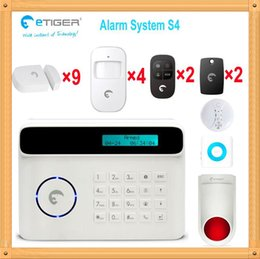 Wholesale Auto Drive System - Free shipping DHL, Bulk sale price etiger S4 security home gsm PSTN double network alarm system driving away theft