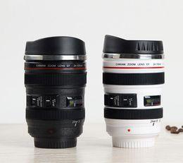 Подарки поколениям онлайн-Новый 5 поколение объектив камеры кружка 400 мл творческий Canon портативный нержавеющей стали тумблер путешествия вакуумная Колба молоко кружка кофе новинка подарочные чашки