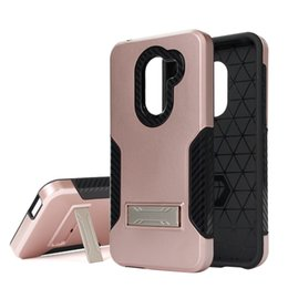 Wholesale Wholesale Phone Caes - Kickstand caes For Walters A30 Fierce 2017 luxury phone case Fibre Carbon TPU+PC 2in 1 For ZTE Sequoia Z799V Have Stock With Packaging