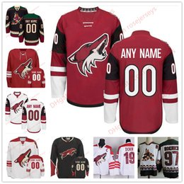 Wholesale coyote hockey - Stitched Custom Arizona Coyotes mens womens youth OLD BRAND Third Phoenix Customized Brick Red Black White Vintage ice hockey Jersey S-4XL