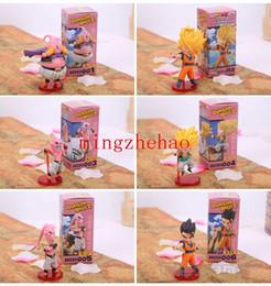 Wholesale Dragon Ball Z Pvc - New Sale Anime Cartoon Dragon Ball Z Majin Buu Gotenks Saiyan Son Goku PVC Action Figures Collectible Toys 6pcs set