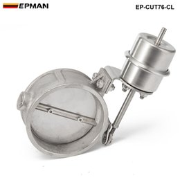 Wholesale Exhaust Cutouts - Tansky High-performance NEW vacuum Activated Exhaust Cutout 3'' 76MM Close Style Pressure: about 1 BAR TK-CUT76-CL
