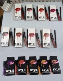 Wholesale Pencil Liquid - KYLIE LIP KIT Fall Collection liner Lipliner pencil Liquid Matte Lipstick 47 colors Makeup Lip Gloss wicked autumn butternut hazel libra
