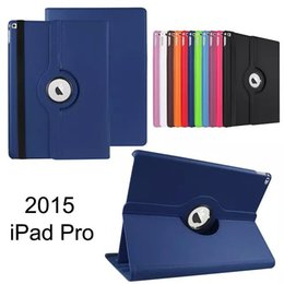 Wholesale ipad pu - 360 Degree Rotating Flip PU Leather Smart Cover Stand Magnetic Case For Apple iPad Pro 12.9 inch 2 3 4 5 6 9.7inch Mini Mini4 7.9inch