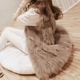Wholesale Casacos Femininos Plus Size - Wholesale-Autumn Winter Faux Fur Vest Colete De Pele Falso Jacket Casacos Femininos Womens Coat Plus Size WWC047