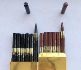 Wholesale Gold Eye Pencil - Kylie Birthday Edition Leo waterproof Black Eyeliner Liquid Make Up Beauty Eye Liner Pencil Gold Kylie Eyeliner Pencil 2 Colors